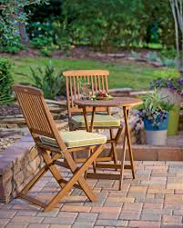 Small Outdoor Table by 3 Piece Bistro Set Folding Bistro Set Small Wood Bistro Set