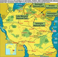 Tanzania Map Arusha National Park Tanzania The Tourist Map Veronica Roodt