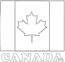 flag of canada coloring page free printable coloring pages