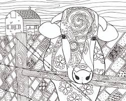 free cow animal coloring page for adults art i love pinterest