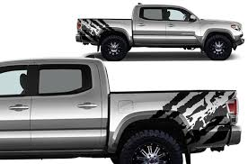 toyota tacoma 2016 pictures toyota tacoma 2016 2017 rear decal wrap kit ripped factory
