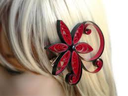 hair accessory punch wedding hair clip asian flower hair