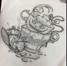 alice wonderland tatuering alice tattoo