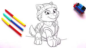 paw patrol everest coloring pages coloring book for kids youtube
