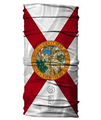 Florida Flag History State Of Florida Flag Neck Gaiter Face Shield Born Of Water