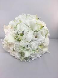 fleurs blanches mariage mariée bouquet mariage artificiel fleurs blanches roses lys