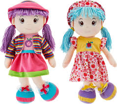 set of two lollipop 20 soft bodied rag dolls page 1 qvc