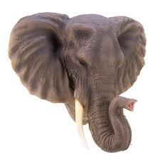 wholesale large elegant realistic african noble elephant head