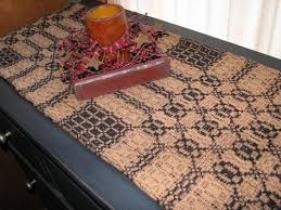 Coffee Table Runners Primitive Black And Mustard Woven Coverlet Table Runner 56
