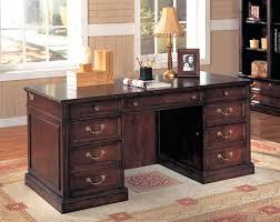 Classic Office Desk Office Design Rich Cherry Finish Classic Office Desk W Storage