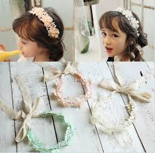 lace headbands lace princess headbands sweet bowknot kids hair bands flower