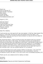 download sample child care worker cover letter