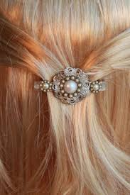 bridal hair clip vintage inspired ivory bridal hair clip lace floral wedding