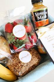 gift baskets ideas breakfast in bed gift basket idea and printables