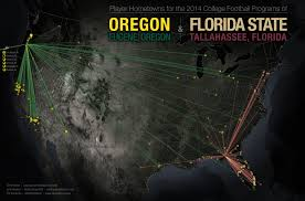 Show Map Of Florida by Cool Maps Show Where All 4 College Football Playoff Teams Get