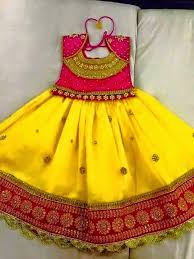 elegant yellow color kids lahengha designer blouse buy kids