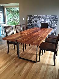 Wooden Dining Table Furniture Stumptown Reclaimed Reclaimed Wood Furniture