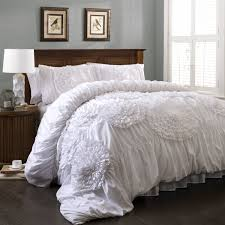 Grey Cream And White Bedroom Bedroom Enchanting White Ruffle Comforter For Bedroom Decoration