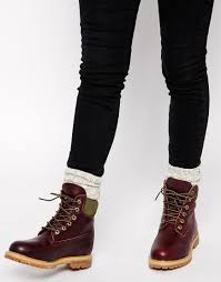 ugg boots sale bicester image 1 of timberland 6 premium burgundy lace up flat boot