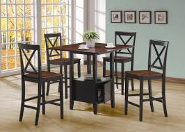 Two Tone Dining Room Sets Black U0026 Cherry Two Tone Modern 5pc Counter Height Dining Set