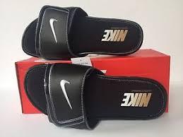 Men S Nike Comfort Slide 2 Nike Comfort Slide 2 Sandals Slides Size 11 Black Whit Silver