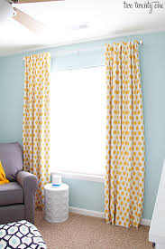 Yellow Nursery Curtains How To Make Blackout Curtains
