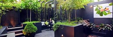modern landscape architecture in the garden u2013 two exotic urban