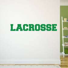 lacrosse wall decal design ideas wall decals ideas lacrosse wall block letter removable lacrosse wall decal lula graphics green decorate multiple features matte film great space