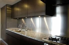 Backsplash For Black Cabinets - stainless steel backsplash u2013 a sleek shine for a modern kitchen decor