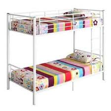 White Metal Bunk Bed Metal Bunk Beds Ebay