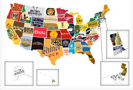 A Map Of The Us Red White And Booze A Map Of The Best Beer And Liquor Brands