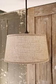 Fabric Drum Pendant Lights Lucent Lworks Lighting With Downrod Burlap Taper Drum 15