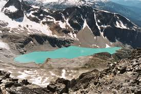file wedgemount lake with whistler mountain visible in the top