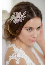 flower accessories wired flower hair comb david s bridal