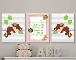 Monkey Decor For Nursery Monkey Nursery Decor Etsy