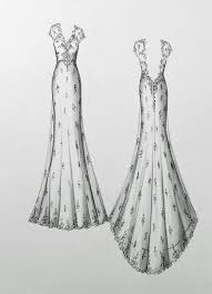 sketch of bride dress lace other dresses dressesss