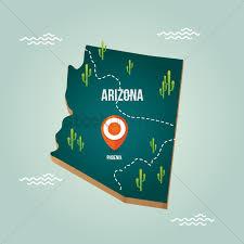 Az City Map Arizona Map With Capital City Vector Image 1536587 Stockunlimited
