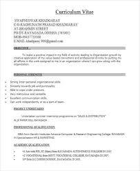 Resume Format For Mba Freshers Pdf 40 Fresher Resume Examples