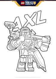 axl with shield coloring page colouring page activities nexo