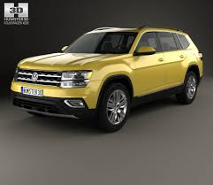 volkswagen sports car models volkswagen atlas sel 2018 3d model hum3d
