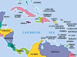 Mexico World Map by Map Of Caribbean Sea White