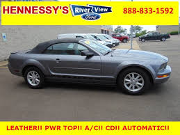 pre owned ford mustang convertible pre owned 2007 ford mustang v6 premium 2d convertible in oswego