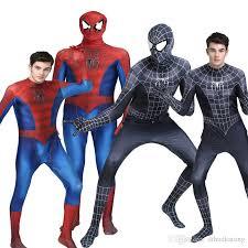 Spiderman Costume Halloween Novedan Red Black Spiderman Costume Spider Man Suit Spider Man
