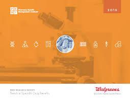 item detail 2016 trends in specialty drug benefits report