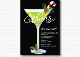 martini glass cheers retro holiday cocktail party invitation dyi digital printable