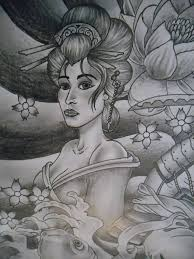 geisha tattoo art and designs page 23