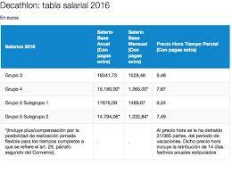 como calcular el sueldo neto mexico 2016 los sueldos de decathlon un mínimo de 1 241 euros al mes empresas
