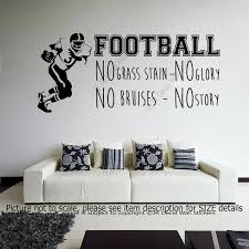 football no grass stain no glory sports quote decals vinyl