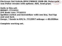 bmw f 650 gs 2006 2011 f650gs k72 electronic set vehicle
