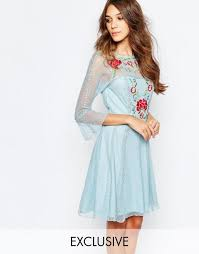 frock and frill embellished dress with drop waist frock and frill